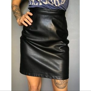 Saks Fifth Avenue Leather Pencil Skirt